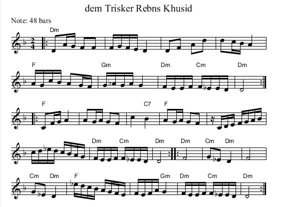 Dem Trisker Rebns Khusid Dm