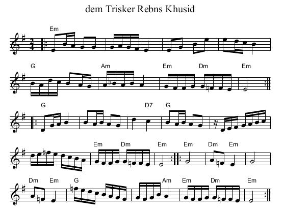 der Trisker REbns Khusid Em